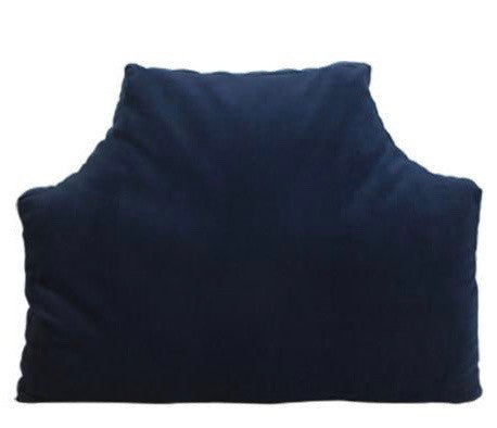 Velvet Headboard Pillow -Navy
