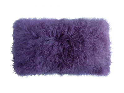 Lambswool Lumbar Pillow- Loganberry