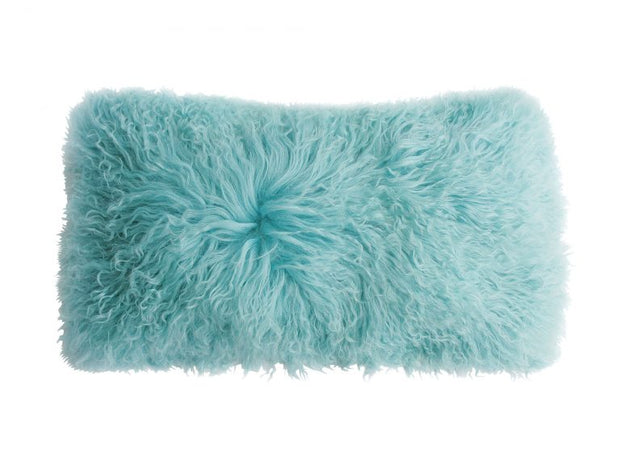 Lambswool Lumbar Pillow - Robin's Egg Blue
