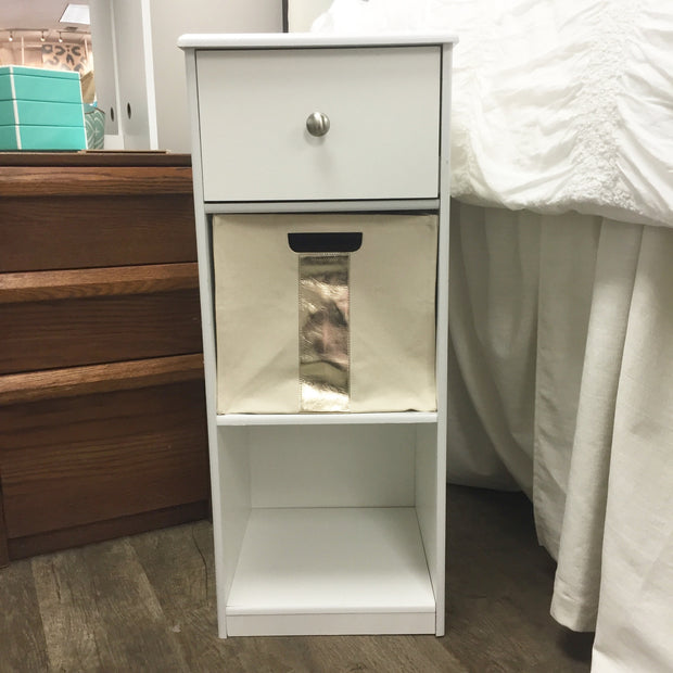 Nightstand Cubby - White