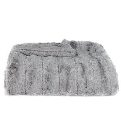 Lush Gray Throw