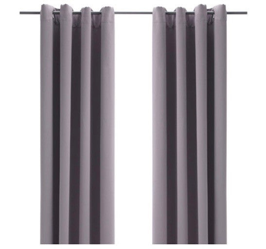 Black Out Drapery Panels (Pair) - Gray