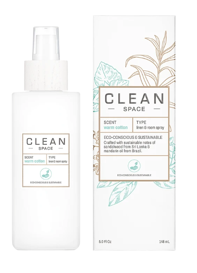 All new CLEAN Linen & Cotton Room Spray -Warm Cotton
