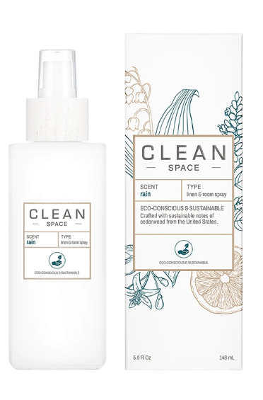 All new CLEAN Linen & Cotton Room Spray -Rain