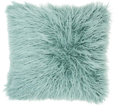 Tibetan Lamb Faux Fur Pillow - Celadon