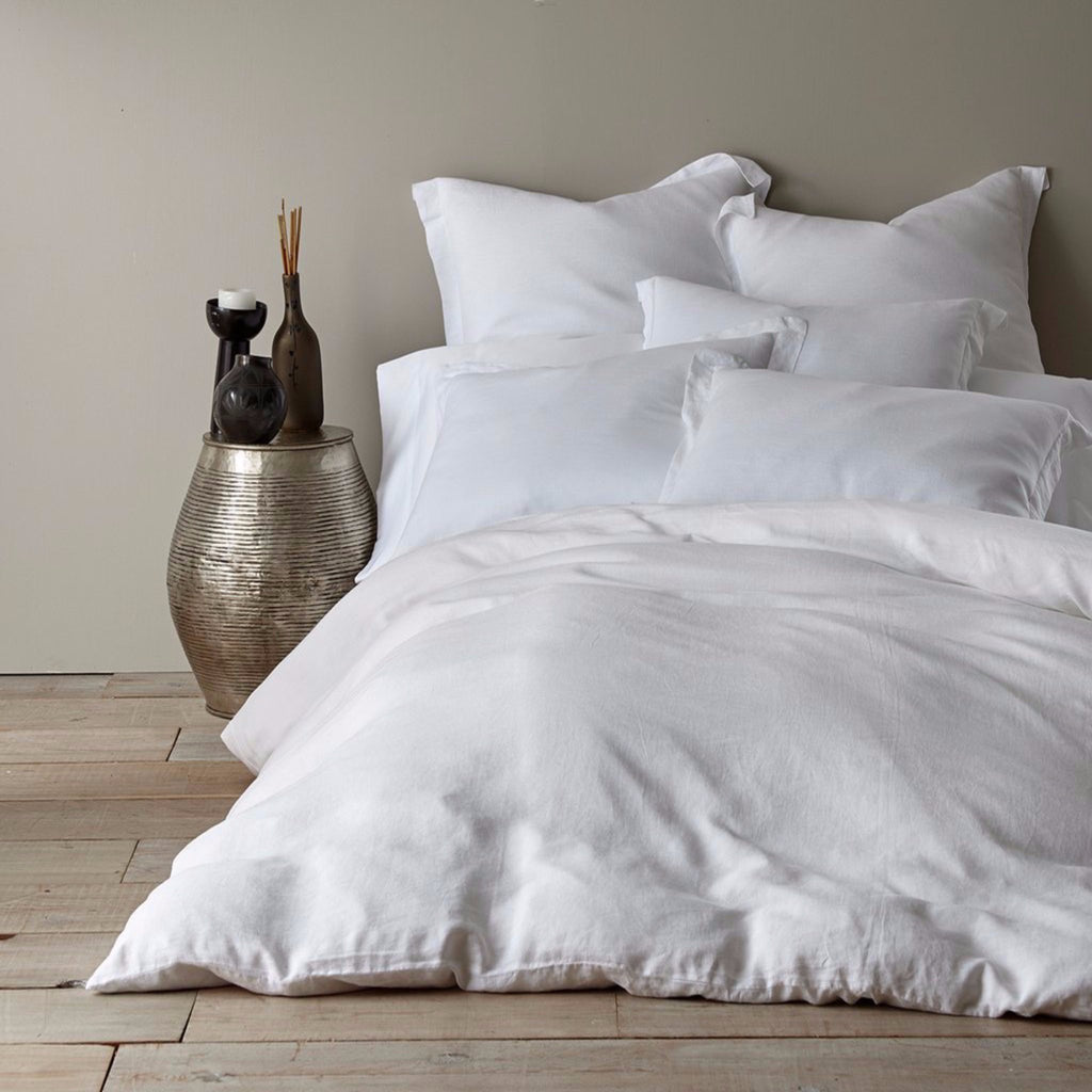 Washed Linen White Duvet - Twin