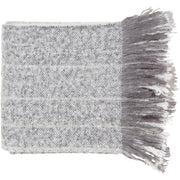 Fringe Throw - Gray and Ivory