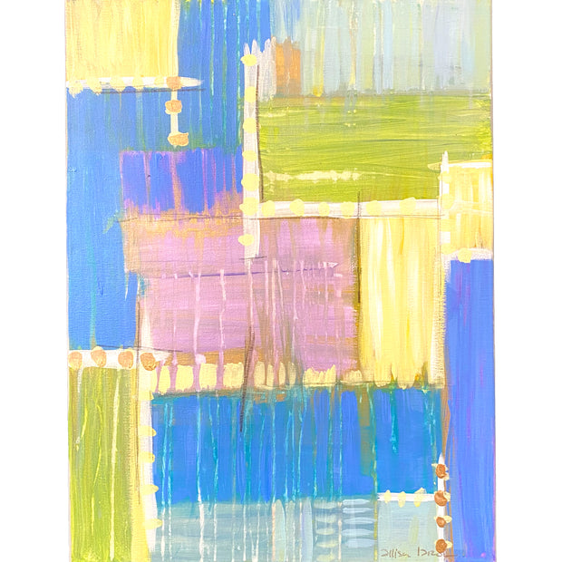 "Abstract Blue/Yellow/Pink/Purple A- 18"" x 24"""