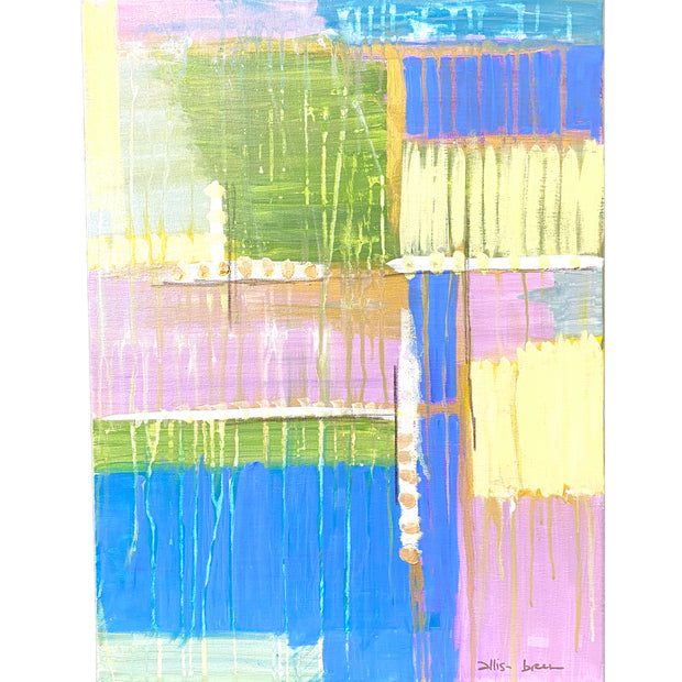"Abstract Blue/Yellow/Pink/Purple B- 18"" x 24"""