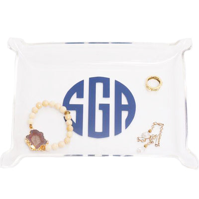 Acrylic Jewelry Tray with Free Monogram