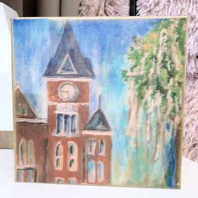 "Auburn Painting by Shannon Harris Art- 6"" x 6"""