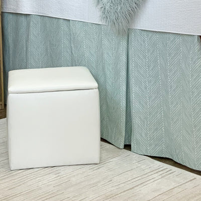 Bed Skirt Panel - Celadon Peaks