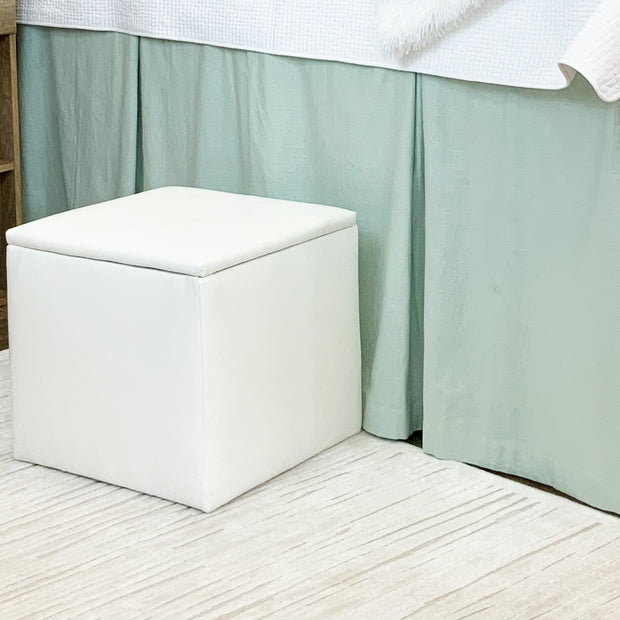 Bed Skirt Panel - Mint