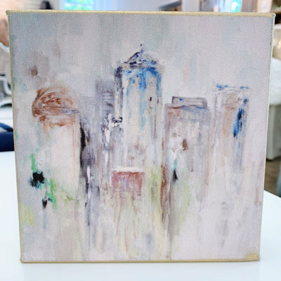 "Birmingham Painting by Shannon Harris Art - 6"" x 6"""