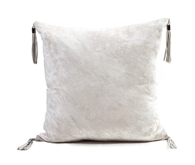 Velvet Tassel Pillow- Cloud