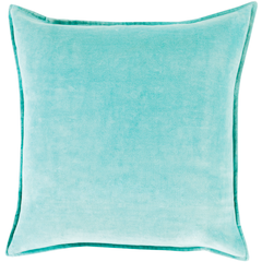 Aqua Velvet Throw Pillow