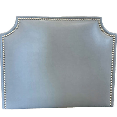 Headboard- Steel Faux Leather with Nailheads (Queen)