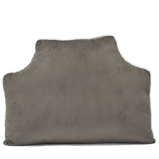 Velvet Headboard Pillow - Seal Gray