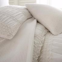 Harper Duvet Queen- White