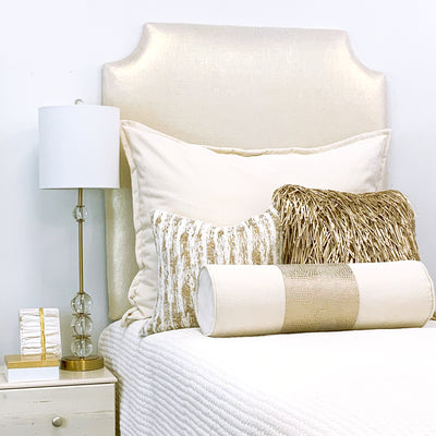 Headboard - Gold Metallic (Twin)