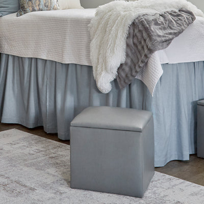 Bed Skirt Panel- Ice Blue