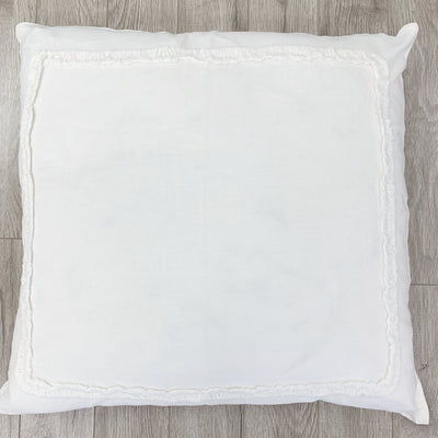 Ivory Linen Frame Pillow