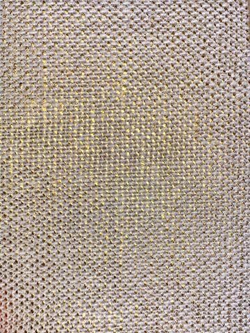 Bed Skirt Panel- Gold Metallic