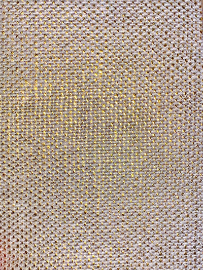 Fabric Swatch - Gold Metallic
