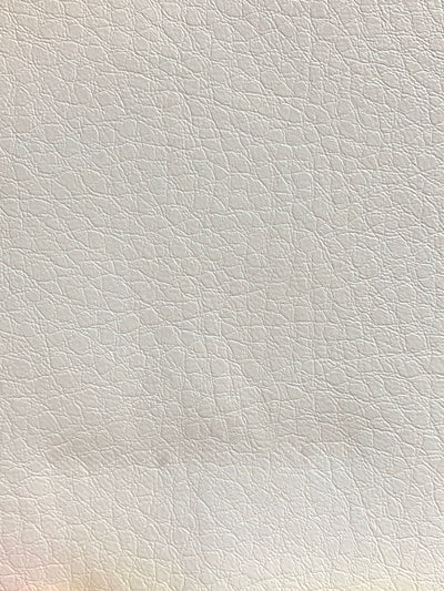 Fabric Swatch - White Faux Leather