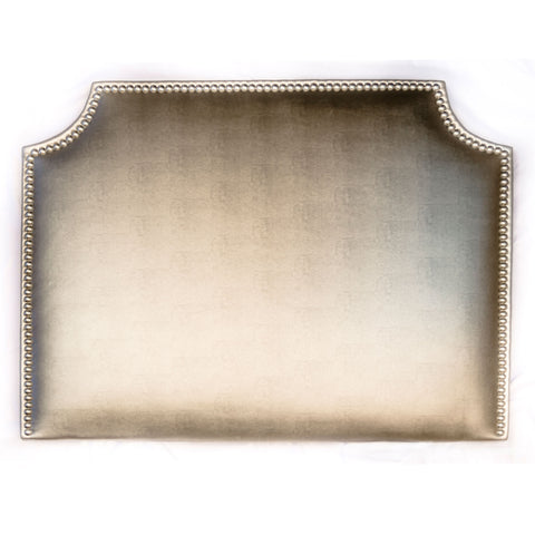 Headboard - Metallic Faux Leather with Nailheads (Queen)