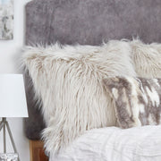 Mia Furry Shag Pillow - Square