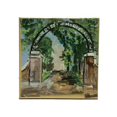 "Montevallo Painting by Shannon Harris Art- 6"" x 6"""