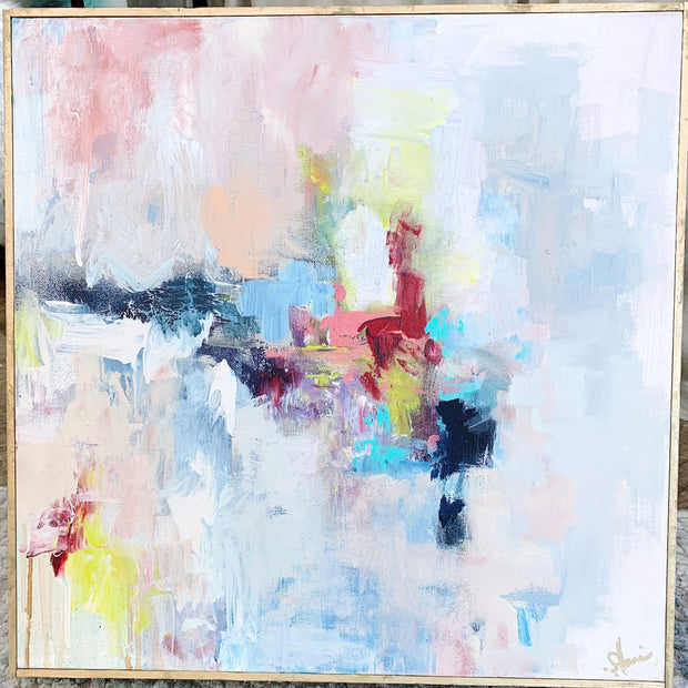 "Multicolor Abstract Painting by Shannon Harris Art- 20"" x 20"""