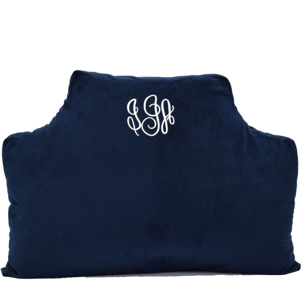 Velvet Headboard Pillow - Midnight Navy
