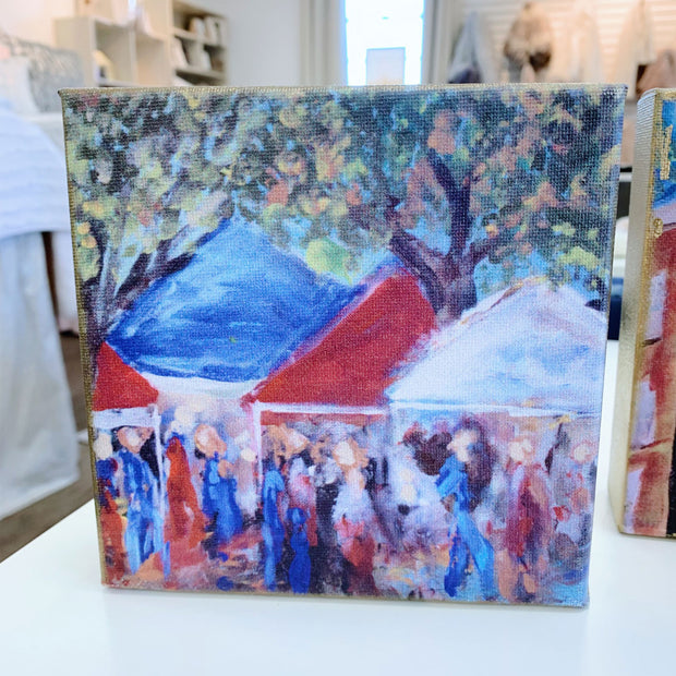 "Ole Miss Painting by Shannon Harris Art- 6"" x 6"""