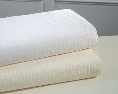 Paula Matelasse Coverlet- White (Twin)