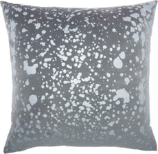 Pollock Pillow - Gray and Silver