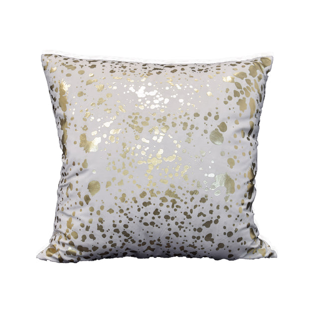 Pollock Pillow - Ivory and Gold