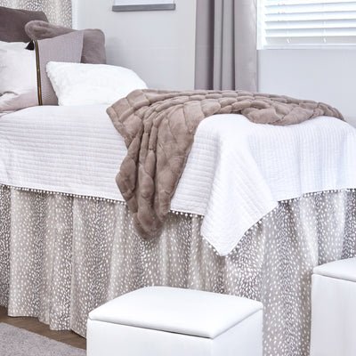 Posh Faux Mink Throw - Gray-BACKORDERED TIL 8/15
