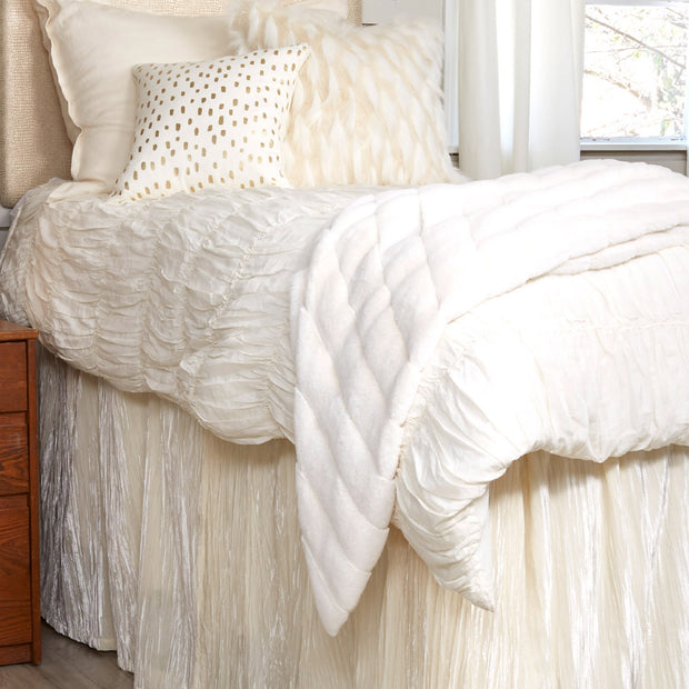 The Rachel Duvet - Ivory (Twin)
