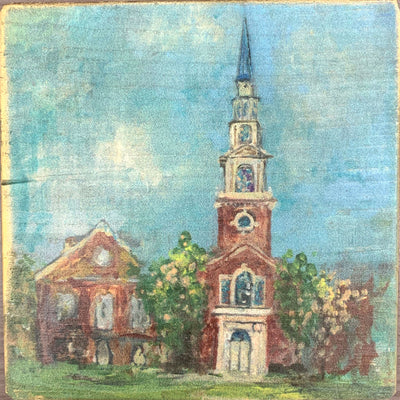 "Samford Painting by Shannon Harris Art- 6"" x 6"""