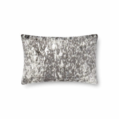 Spotted Silver Lumbar Pillow