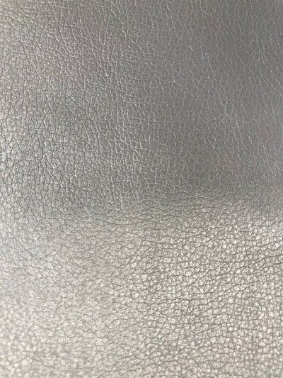 Fabric Swatch - Steel Gray Faux Leather