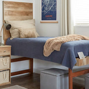 Stonewash Navy Quilt Set (Twin)