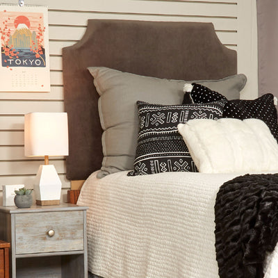 Headboard- Velvet Seal Gray (Ships Immediately)