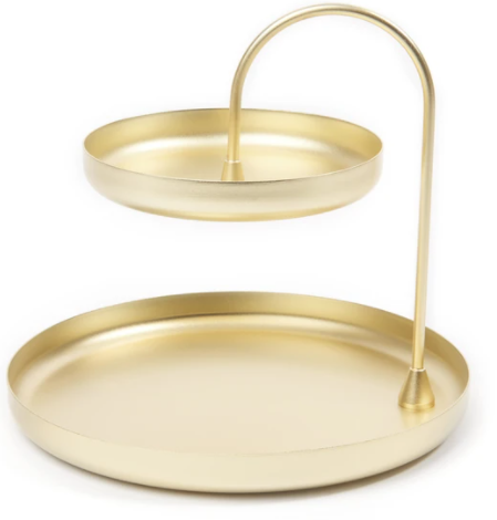 Two Tiered Tray - Brass