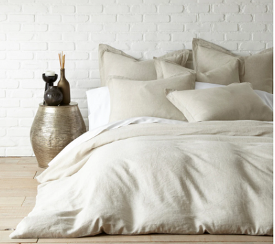 Washed Linen Neutral Duvet (Twin)