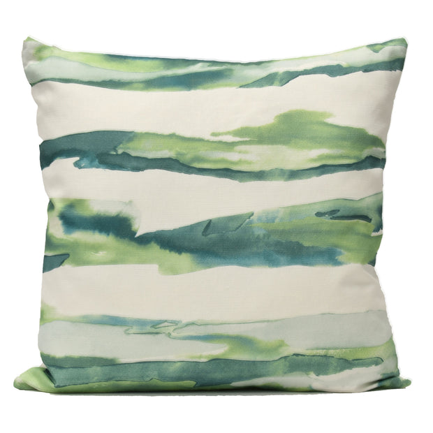 Watercolor Pillow Green