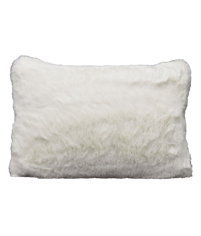 Faux Fur White Lumbar