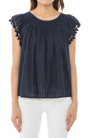 The Tassel Flutter Top.
